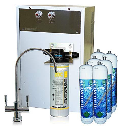 Depuratore Acqua ForHome con Refrigeratore e Gasatore + 6 bombolette CO2